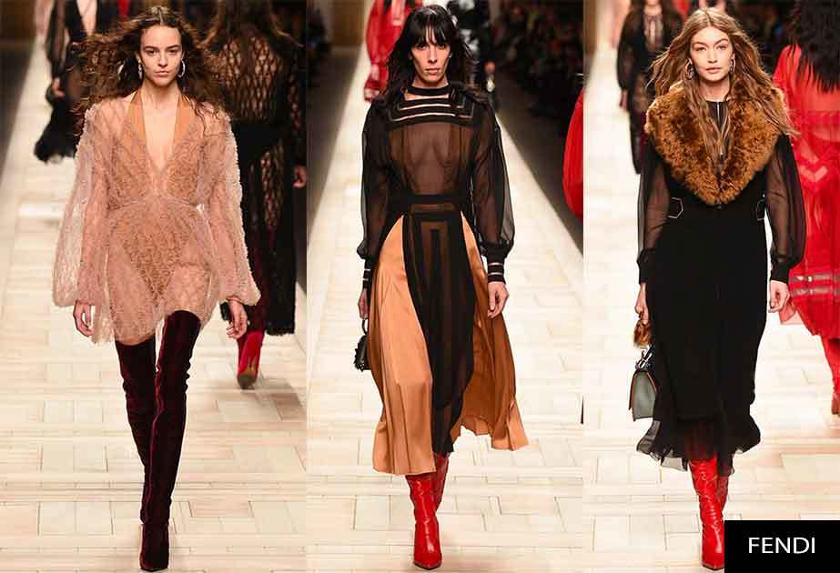 Fendi  Otoño – Invierno 2017 2018 y su exquisita estética feminina ad927bdd8cc8