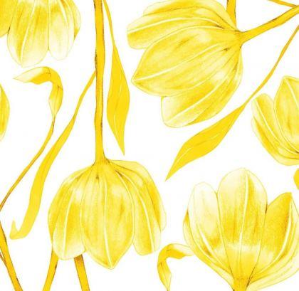 estampado de tulipanes amarillos