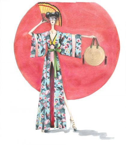 Kimono para la playa
